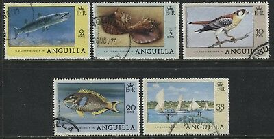 Anguilla various 1977 definitives to 35 cents used