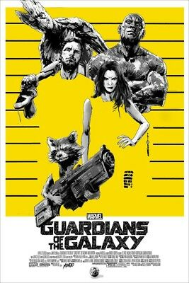 Guardians Of The Galaxy Mondo Poster By Jock AP Signed Screen Print