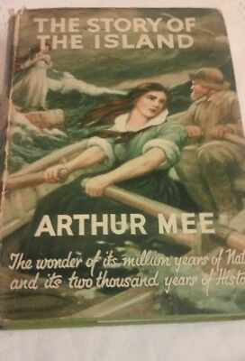 Vintage Book The Story Of The Island Arthur Mee Hadback dust cover 1st Edition