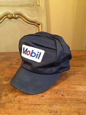 """VTG Mobil Gas Station Hat Cap UNITOG 1950's  Union Made Size 7 1/4"""""""