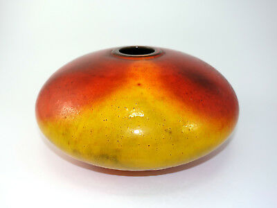 Ceramano Urania Fat Lava alte große Keramik Vase 60s Design german pottery red