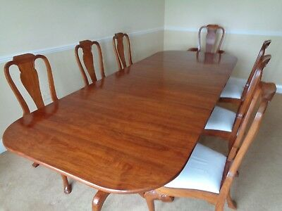 LARGE 9ft MAHOGANY DINING TABLE & 8 CHAIRS BRIGHTS OF NETTLEBED ANTIQUE STYLE