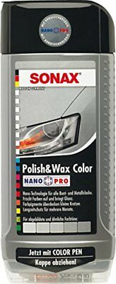 SONAX 296300 Polish & Wax Color NanoPro silber/grau, 500 ml / Neu