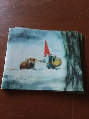 Vintage minature gnome cards and evenlopes