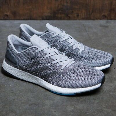 Men's Adidas PureBoost DPR BOOST Running Shoes Grey/Black/Blue S82010 ALL SIZES