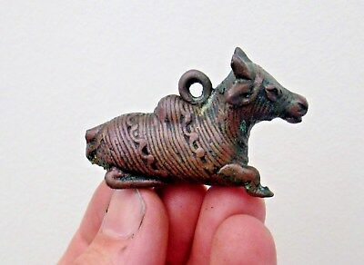 African or Indian Tribal Art Bronze Brass Ashanti Sacred Cow Gold Weight Statue