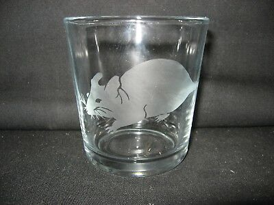 New Etched Rat Old-Fashioned Rocks Glass Tumbler