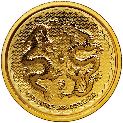 2018 $250 Niue Gold Double Dragon .9999 1 oz Brilliant Uncirculated