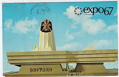 1967 MONTREAL EXHIBITION -  Expo 67 - Great Britain Pavilion - used postcard