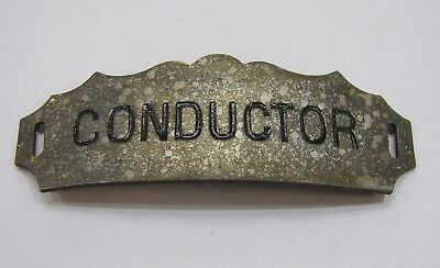 Vintage Railroad Cap Badge - Conductor - by F.G. Clover Co. New York