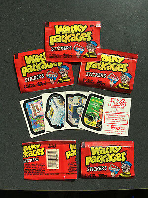 5 - 1986 Topps Wacky Packages Sticker Packs - Fresh from Box! Unopened/Sealed
