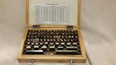 81 piece Inch Precision Gage Block set - Great Condition a few used!