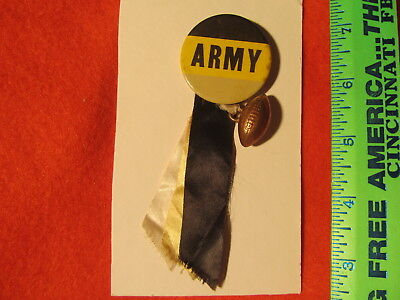 Vintage 1950-60s ARMY Football Pinback w/football and ribbons