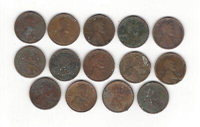 10. A Lot Of 14 Lincoln Cent Teen Keys In Lower Grade Conditions, Sold As Is