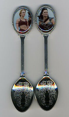 Xena Warrior Princess 2 Silver Plated Spoons Featuring Xena