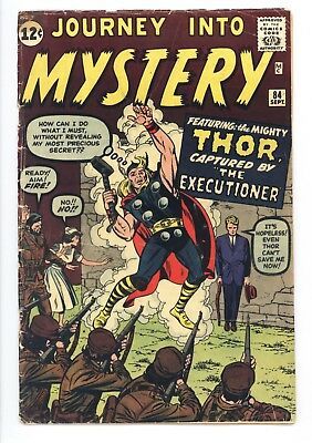Journey Into Mystery #84 Vol 1 Very Nice Mid Grade 2nd Appearance of Thor