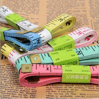 2Pcs Body Measuring Ruler Sewing Cloth Tailor Tape Measure Soft Flat 150cm 60""