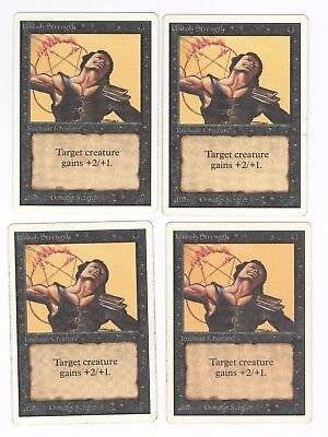 Unholy Strength Unlimited NM-M Black Common MAGIC THE GATHERING CARD ABUGames
