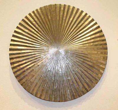 Apollo Disc - Wood On Metal Wall Decor - New From Gallery (34308-100)