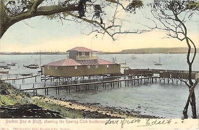 1906 Durban, South Africa;  Durban Bay & Bluff,  The rowing club and boathouse