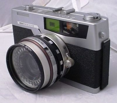 Vintage Petri 7s Camera Rangefinder 45mm f/2.8 lens w/ Haze Filter