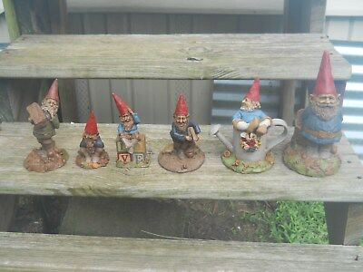 6   Vintage gnomes  80s &90s between 5 inches to 10 inches tall