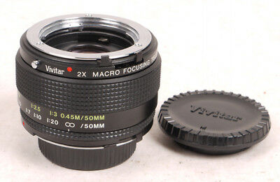 Vivitar Macro-Focusing 2X Teleconverter for Minolta MD/MC - Mint