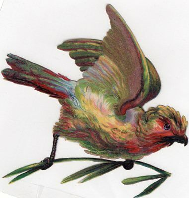 1800's Victorian - 4 1/4 Inch Bird On Branch Diecut -Selling Lot Of Card's,scrap
