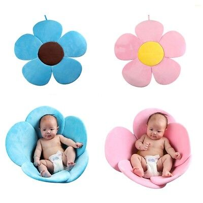 Baby Bath Tub Toddler Safety Foldable Soft Flower Petal Bathtub Pad Support Mat