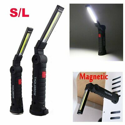5 modes USB Rechargeable COB LED Work Light Folding Flashlight Magnetic Torch