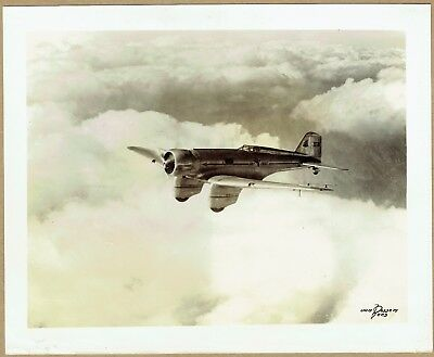 1930s Northrop Gamma original photograph (255x215mm) used by China against Japan