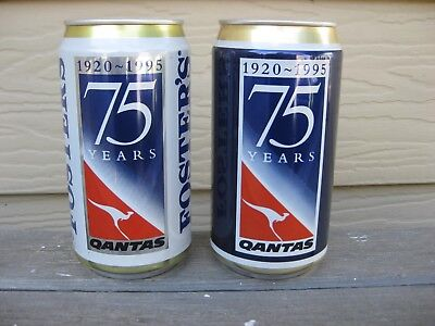 Fosters QANTAS beer cans