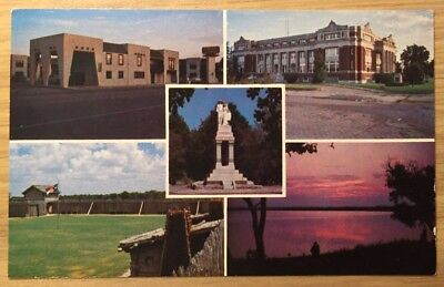 Postcard Groesbeck Texas TX Scenes Limestone Inn Courthouse Fort FREE SHIPPING