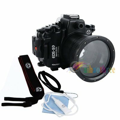 Seafrogs 40m/130ft Underwater Waterproof Case Cover For Canon EOS 5D Mark III IV