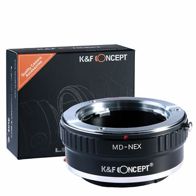 K&F Concept Lens Adapter Ring for Minolta MD MC Lens to Sony NEX E-Mount Cameras