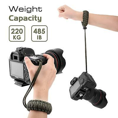 2Pack Adjustable Heavy Duty Camera Wristband Bracelet Braided Universal Paracord