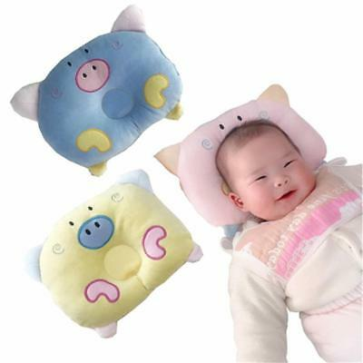 Infant Baby Soft Pillow Prevent Memory Foam Cushion Flat Head Anti-roll Support