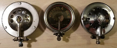 Vintage Phonograph Reproducer Lot - Victrola No. 2, Plus 2 Unknown Parts Only