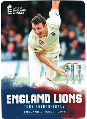 Tap n Play Official 2018 England Cricket Card 042 Toby Roland-Jones