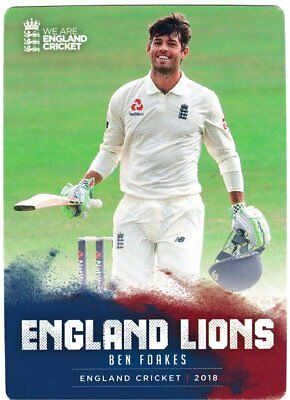 Tap n Play Official 2018 England Cricket Card 030 Ben Foakes