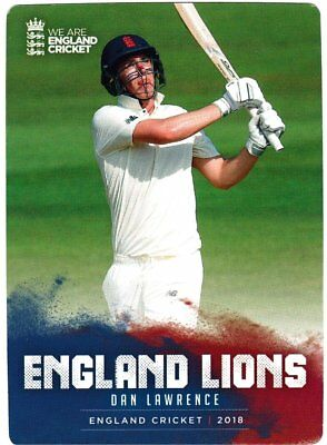 Tap n Play Official 2018 England Cricket Card 035 Dan Lawrence