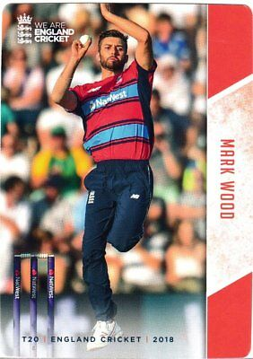 Tap n Play Official 2018 England Cricket Card 095 Mark Wood
