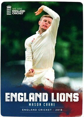 Tap n Play Official 2018 England Cricket Card 026 Mason Crane