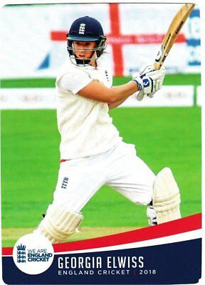 Tap n Play Official 2018 England Cricket Card 047 Georgia Elwiss