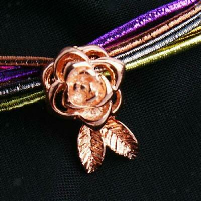 1pc 18K Gold Plated Rose Flower Magnetic Clasp Buckle DIY Jewelry Findings