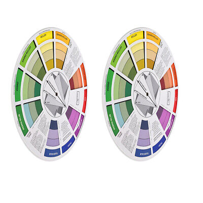 2x Color Mixing Wheel Guide Nail Embroidery Match Colors Palette Two Side