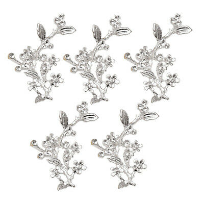 5x Silver Plated Alloy Tree Branch Connector Charms Pendants Wedding Jewelry
