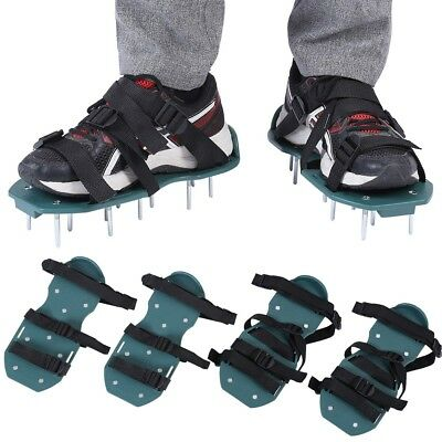 Lawn Aerator Shoes Spiked Aerating Lawn Soil Sandals With 3/4 Strap Buckles