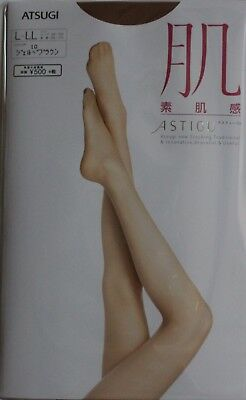 ATSUGI Pantyhose skin texture Astige Jerbee Brown size L-LL Made in Japan