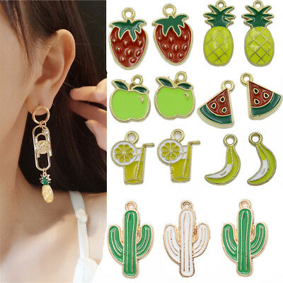 5/50X Fruit Pendants Charms Pendant For DIY Necklace Jewelry Making Hand Craft
